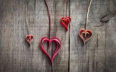 Paper Origami Hearts Love Mood HD Wallpaper - FreeHDWalls