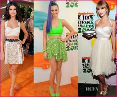 Katy Perry, Taylor Swift and Selena Gomez hit the red carpet of Nickelodeon's 25th Annual Kids' Choice Awards. There were many high profile celebrities but these three were really ROCKING.
