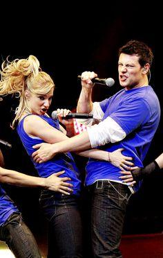 Heather Morris and Cory Monteith on Glee Tour 2010
