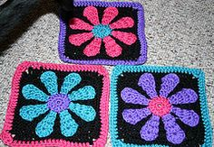 Ravelry: Daisy Flower Charity Square pattern by Krystal Nadrutach