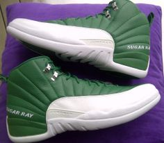 Nike Air Jordan Retro XII sz 14 Ray Allen Player Exclusive Celtics Sugar  Ray PE Air 90e0c3b0f