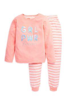 Younger Girl Girl Power Pyjama Set | Kids Pyjamas | Boys Clothes | Kids Clothes | All Primark Products | Primark UK Kid Shoes, Girls Shoes, Girls Sleepwear, Kids Clothes Boys, Girls Pajamas, Girls In Leggings, Girls Wear, Boys Shirts