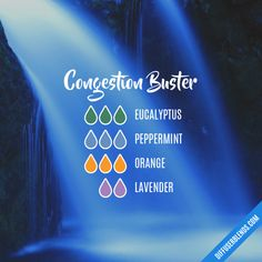 Congestion Buster - Essential Oil Diffuser Blend #Essentialoildiffusers #essentialoildiffuserrecipes