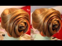 "Причёска - ""Бутон"" - 2 видео без ускорения и музыки - Hairstyles by REM - YouTube"