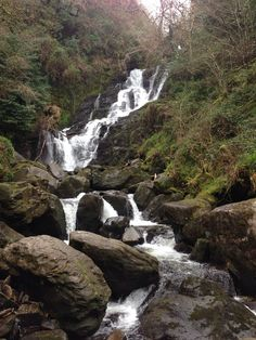 Waterfall on the Ring of Kerry in Ireland