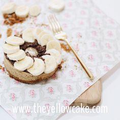 cheesecake de banana com nutella