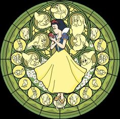 Disney - Snow White Stained Glass