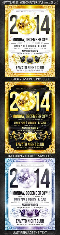 New Year Party Poster\/Flyer Party poster, Flyer template and - new year poster template