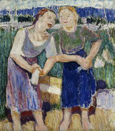 Tyko Sallinen Pyykkärit / The Washerwomen 1911 - Finland Helsinki, Finland Culture, National Gallery, Painter Artist, Scandinavian Modern, Golden Age, Art Forms, Modern Art, Sculptures