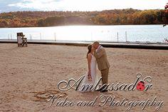 Romance on the beach. AmbassadorVideoAndPhotography VideAndPhotography.com #RidgewoodNJ #wedding #brideandgroom #kiss #sand #lake #water #waterfeature #love #weddingphotographer #newjersey #bergencounty #indiantrailclub #franklinlakes #nj #countryclub #nyc #philly #ct # #DestinationWeddingPhotographer #RocklandCounty #Manhattan #NorthJersey #autumn #trees #foliage