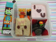 I am nuts and bolts about you Valentine's Day lunch Bento Box Lunch For Kids, Lunch Box, Smoked Gouda Cheese, Cute Bento, Robots For Kids, Frozen Strawberries, School Lunches, Kid Friendly Meals