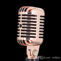 Professional Rose Gold Color Deluxe Vocal Vintage Microphone For Karaoke Home Entertainment,Wired Dynamic Microfonos Webcam With Microphone Wireless Headphones With Microphone From Ooikas, $70.36| Dhgate.Com