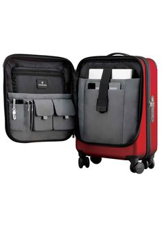 Victorinox Travel Gear - Hardside Luggage - Spectra™ Dual-Access Global Carry-On Size : x x x x cm Weight : lbs kg] Carry On Luggage, Carry On Bag, Travel Luggage, Luggage Bags, Travel Bags, Airport Luggage, One Suitcase, Hardside Luggage, Spinner Suitcase