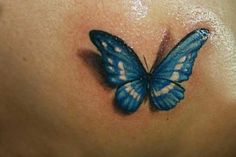 Celtic Butterfly Tattoo Designs | Blue butterfly tattoo designs | Full Tattoo **i love the 3-D effect...