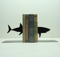 Shark Metal Art Bookends via Etsy - B's room Shark Books, Gadgets, Shark Week, Shark Shark, Shark Bait, Hammerhead Shark, Do It Yourself Home, Cool Stuff, Kid Stuff
