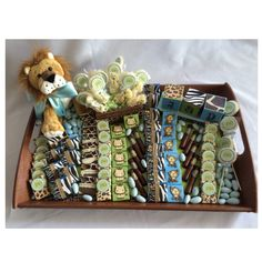 Safari keepsake baby shower tray and favors! Have something one of kind made for your baby.