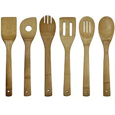 jcp | Oceanstar 6-pc. Bamboo Cooking Utensil Set