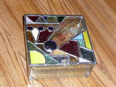"""""""Funky"""" stained glass box"""