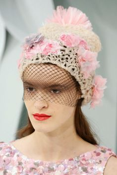 crochet knit unlimited  CHANEL COUTURE Spring-Summer 2015 Hats Chanel Hat 743f8e77eeaa