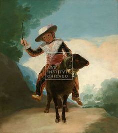 Francisco José de Goya y Lucientes, Spanish, Boy on a Ram, 1786/87, Oil on canvas, Gift of Mr. and Mrs. Brooks McCormick, The Art Institute of Chicago (Image No. 00050603-01)