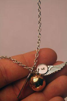 Golden Snitch Harry Potter Necklace by GatesofMordor on Etsy