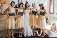 In love with these bridesmaid dresses!