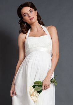 Alya Lace Maternity Wedding Dress (Long)