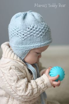 Wool Baby Bonnet, Vintage Inspired Lace Baby Hat, Kyushu Hat