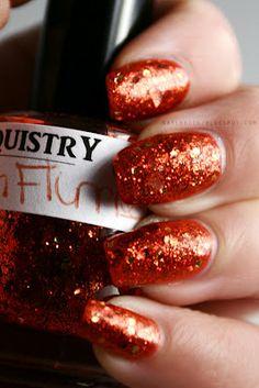 Lacquistry Autumn Flurries #manicure #beauty #nailpolish #glitter
