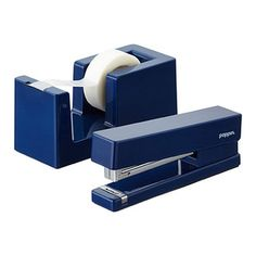 As dependable as it is practical, our Poppin Tape Dispenser is designed with a solid weighted core so it stays firmly in place, even during use. And its partner, our Poppin Stapler, with a solid steel anvil and durable lacquer-like finish, can secure 20 sheets with ease. It's a bright desktop addition that coordinates with our entire Poppin Desktop Collection.