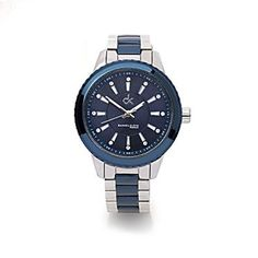 Ladies steel and blue two tone watch with blue dial. http://www.sterns.co.za