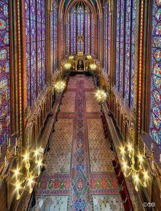 Saint Chapelle, Paris-photo V. Gothic Architecture, Beautiful Architecture, Beautiful Buildings, Beautiful Places, Beautiful Pictures, Sainte Chapelle Paris, Saint Chapelle, Paris Travel, France Travel