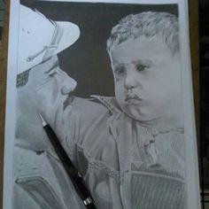 Desenho a lápis.