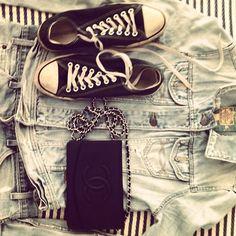 Yin & Yang #converse vs #chanel #denim by tashsefton