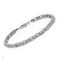 Bracelet With 2.30ctw Precious Stones - Genuine Clean Diamonds and Tanzanites Crafted in White Gold. Total item weight 6.2g Length 7in Unknown. $415.80. Save 84% Off!