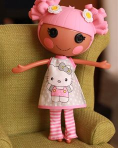 I love this!!!!!!!!!!!!  What a wonderful B day present for Sadie! I could give her a doll and this cute dress!!!!!!!
