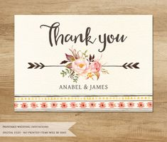 Hi! Thank you for stopping by!  This listing is for a DIGITAL FILE(S) only. You will receive PRINTABLE high resolution digital file(s), customized with your own details. NO physical product will be shipped to you. You can print as many as you want!  - Wedding Invitation 5 x 7 (fits into A7 envelope) - RSVP/Response Card - OPTIONAL 5 x 3.5 (fits into A1 envelope) - Thank You Card - OPTIONAL 5 x 3.5 (fits into A1 envelope)  Please note that colors may vary from computer to computer and printer…