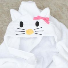 Hooded Hello Kitty Towel Tutorial