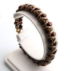Crescent, TOHO and pellet beads bracelet  http://www.sashe.sk/kacenkag/detail/crescent-hnedy-leskly