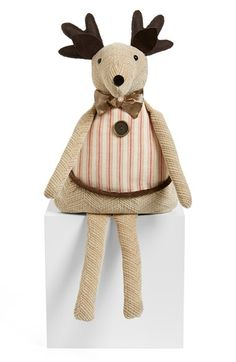 Woof & Poof Tan Plaid Reindeer available at #Nordstrom