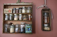 Vintage Drawer DIY Spice Rack Hanging Storage by Cloud9Jewels, $99.00