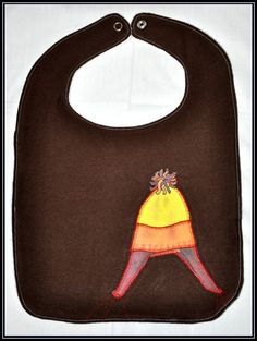 Firefly Inspired Brown Flannel with Jayne Hat Applique Bib with White Terry Cloth - Geek-a-bye Baby -- Sci-Fi Geek - Handmade, Jayne Cobb. $10.00, via Etsy.