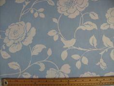 CLARKE & CLARKE  fabric  MEADOW POWDER BLUE pr half mtr (rose/country/floral) Blue Bunting, Clarke And Clarke Fabric, Blue Crafts, Powder, Country, Rose, Floral, Ebay, Home Decor