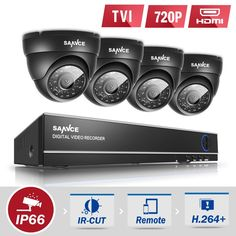 118.43$  Watch now - http://aitrh.worlditems.win/all/product.php?id=32759117519 - SANNCE 4CH HD 1080N security camera system 4IN1 DVR 4pcs 720P CCTV Cameras P2P Outdoor Waterproof Video Surveillance kit hd 1 tb