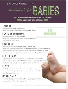 Babies and oils