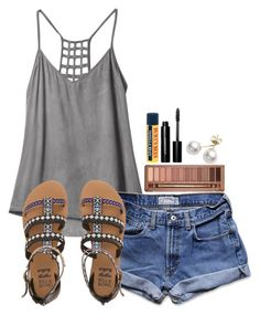 """~boom chicka ow~"" by simply-natalee ❤ liked on Polyvore featuring RVCA, Abercrombie & Fitch, Urban Decay, Billabong, Burt's Bees, Bobbi Brown Cosmetics and Mikimoto"