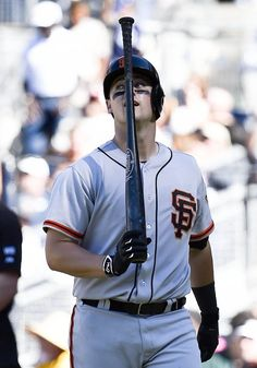 SAN DIEGO, CA - SEPTEMBER 21: Andrew Susac #34 of the San Francisco Giants walks back to the dugout after striking out swinging in the seventh inning of a baseball game against the San Diego Padres at Petco Park September, 21, 2014 in San Diego, California. (Photo by Denis Poroy/Getty Images)