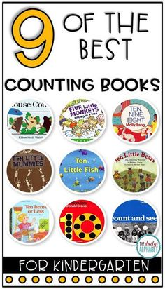 Here are nine of the best counting books for kindergarten! Perfect for those early numeracy skills!