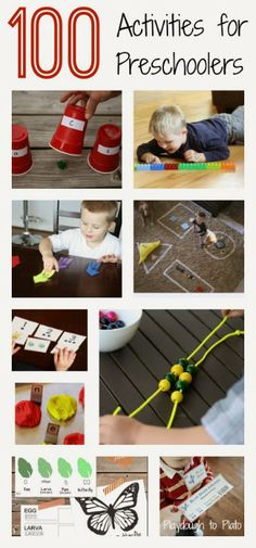 Google+ 100 Preschool Activities!  This list of preschool activities from +Malia Hollowell is awesome! Pin to reference whenever you need an idea!  Thanks for sharing +Carolyn Elbert!   #preschoolactivities   #kidsactivities   #parenting   #kbn   Malia Hollowell originally shared:   100 Activities for Preschoolers