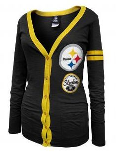 Pittsburgh Steelers Women's Cardigan T-Shirt - Official Online Store